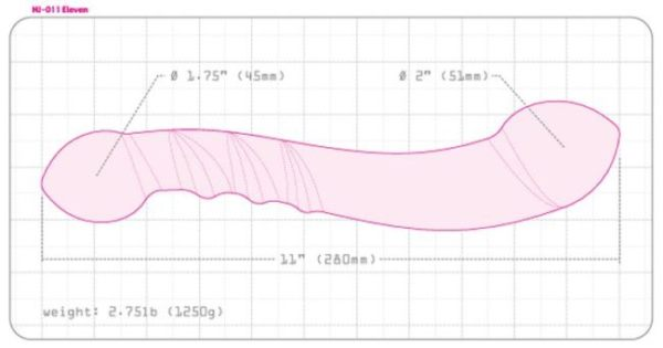 Njoy Eleven Review - sex toy dimensions